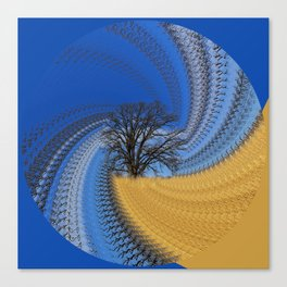 Prairie oak swirl Canvas Print