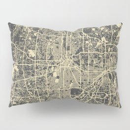 Minneapolis Map yellow Pillow Sham