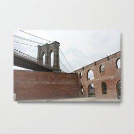 Brick and Bridge Metal Print