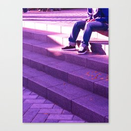 Portland in Purple Canvas Print