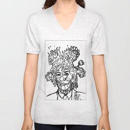 Jean Michel Basquiat-Revisited 2014  Unisex V-Neck