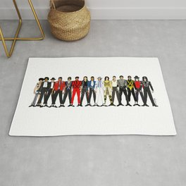 Outfits of King MJ Pop Music Rug