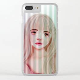 Girl on the Window Clear iPhone Case