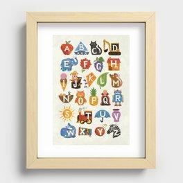 Alphabet Recessed Framed Print
