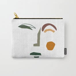 Line Art Beautiful Woman Head Carry-All Pouch
