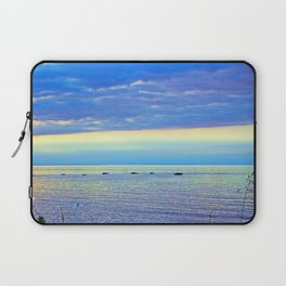 Saturated Sunset over the Circle of Rocks Laptop Sleeve