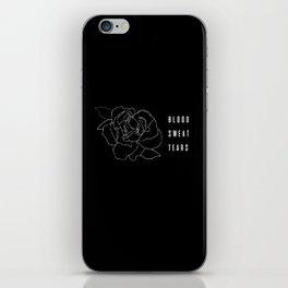 BLOOD, SWEAT, TEARS iPhone Skin