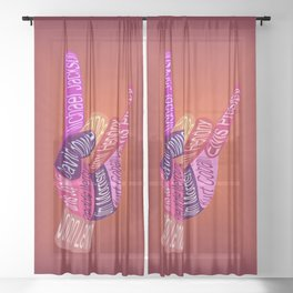Rock On Sheer Curtain