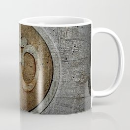 The sound of the Universe. Gold Ohm Sign On Stone Coffee Mug