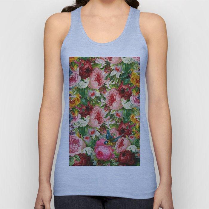 Colorful Floral Pattern | Je t'aime encore Unisex Tank Top
