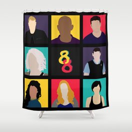 Sense8 Colors Shower Curtain