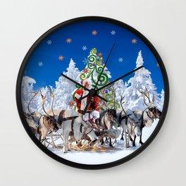 Santa Kringle Claus Wall Clock