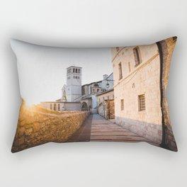 Sunset over Assisi Rectangular Pillow