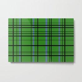 green flannel Metal Print