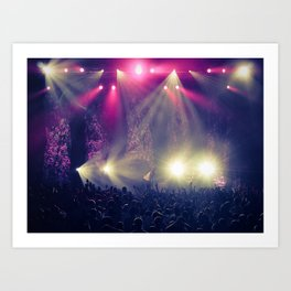 hit the lights. Art Print