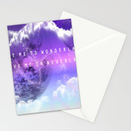 Take me to Wonderland leave me in Neverland Stationery Cards