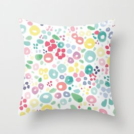 Floracuarela Throw Pillow