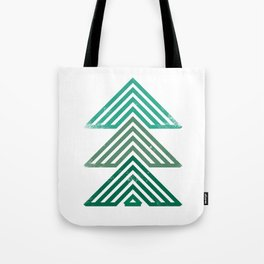 Mountain trees vintage Tote Bag
