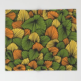 Happy abstract: Jungle Nr:01 Throw Blanket