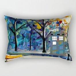 tardis lounge chair Rectangular Pillow