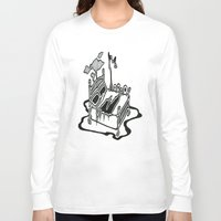 dessert Long Sleeve T-shirts featuring Dessert by Abstractink82