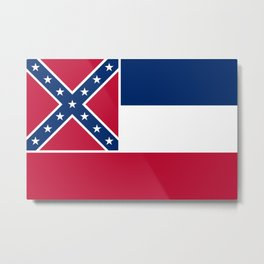 Mississippi State Flag, Authentic Version Metal Print
