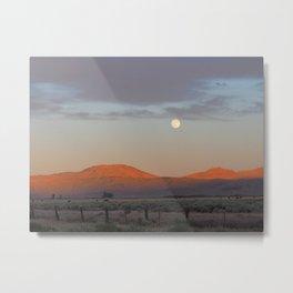Sierra Valley Moonrise Metal Print