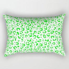 Leopard (green fur design) Rectangular Pillow