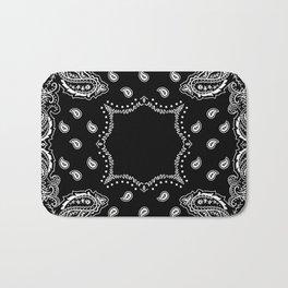 Bandana Black & White Bath Mat