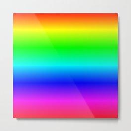 Digital Neon Tropical Rainbow Metal Print