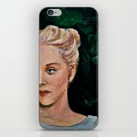 sylvia plath iPhone & iPod Skins featuring Sylvia by alison dillon art
