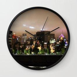 Montreal Skyline II Wall Clock