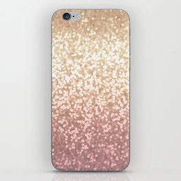 Champagne Gold Blush Pink Glittery Ombre Pattern #society6 iPhone Skin