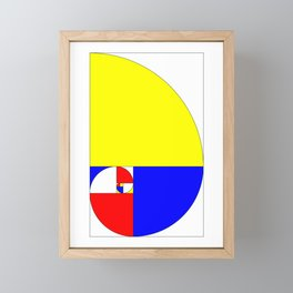 Mondrian in a Fibo-Style Framed Mini Art Print