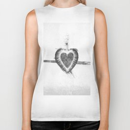 Black and White Stawberry Biker Tank