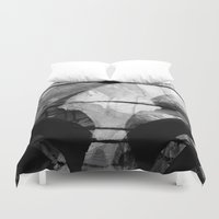 stark Duvet Covers featuring a stark winter morning by joseph arruda (zeruch)