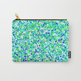 Blue Green Polk A Dots Carry-All Pouch