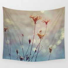 Soft Queen Anne's Lace and Bokeh Wall Tapestry
