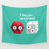 chuck Wall Tapestries featuring No Dice by David Olenick