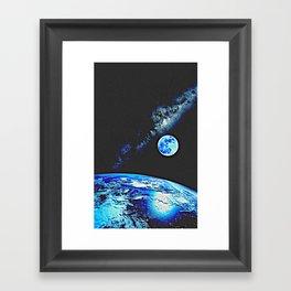 Earth, Moon and Milkyway by Adam Asar 2 Framed Art Print