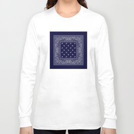 Bandana - Navy Blue - Southwestern Long Sleeve T-shirt