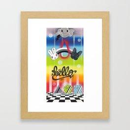 Hello (featuring B-Bunny & Chango) Framed Art Print