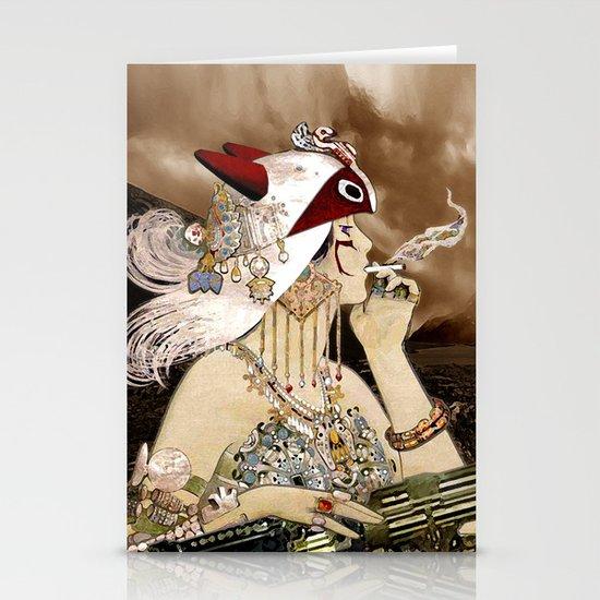 Chasing Smoke - Princess Mononoke Nouveau Stationery Cards