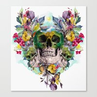 skulls Canvas Prints featuring SKULLS by RIZA PEKER