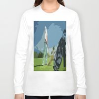 golf Long Sleeve T-shirts featuring GOLF by aztosaha