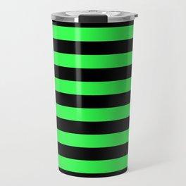 Stripes Green & Black Travel Mug