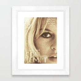 Brigitte Bardot, Contempt, movie poster, Le Mépris, Jean-Luc Godard, Fritz Lang, Framed Art Print