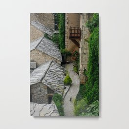 Old town and a cat Metal Print