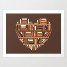 I Heart Books Art Print