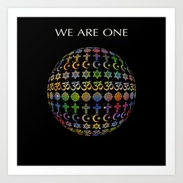 WE ARE ONE - color version Art Print